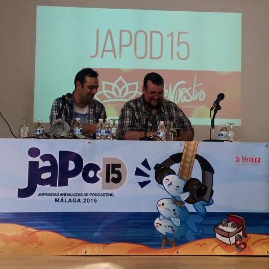 Los miembros de Pienso Luego ya tu Sabeh en JAPOD15