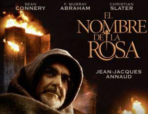 Portada del pelicula el nombre de la rosa